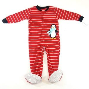 Carters Baby Size 2T Fleece Footed Pajamas Penguin